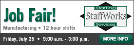 StaffWorks Manufacturing Job Fair